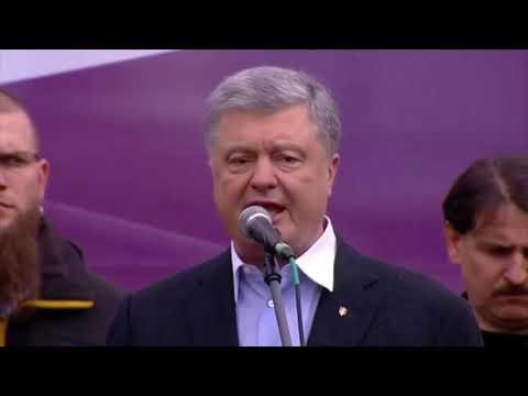 Как Порошенко агитировал за себя перед дебатами с Зеленским