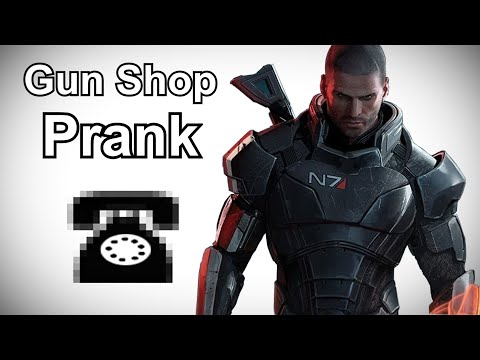 Commander Shepard Calls Gun Shops - Mass Effect Prank