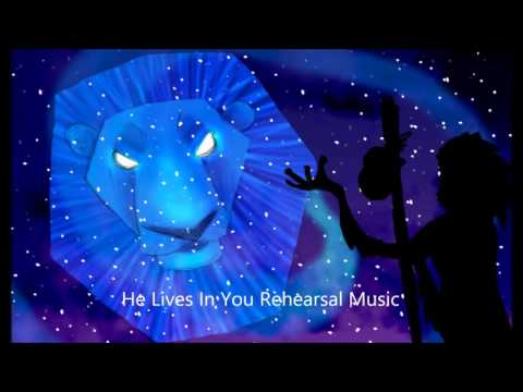 He Lives In You Rehearsal Music