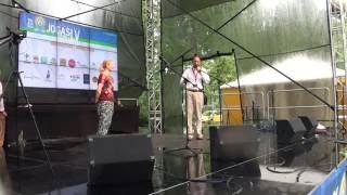 00211 Starptautiskā Jogas diena LU Botāniskajā dārzā Rigā 21.06.2016 Международный день йоги в Риге