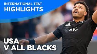 USA v All Blacks Highlights   International Test   2021