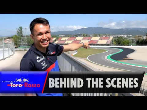 F1 2019: Behind the Scenes with Alex Albon - Trackside in Spain