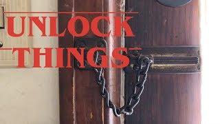 UNLOCKING a chain lock like in Stranger Things