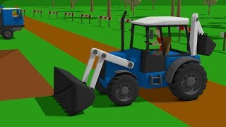 #Truck and #Excavator, Dump Truck and Blue Bulldozer   Street Vehicles   Maszyny Budowlane Kids