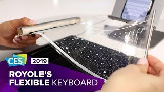 Hands-on with Royole's flexible keyboard at CES 2019