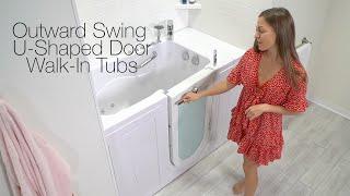 Outward Swing U-Shaped Door Walk-In Tubs Video