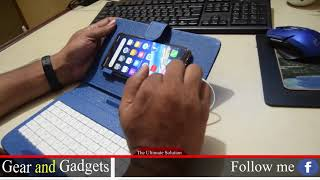 """5"""" To 10"""" Mobile Or Tablet Hard Case With The Keyboard. USB Keyboard Stand For Tablet Or Mobile"""