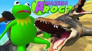 NEW CROCODILES vs KERMIT THE FROG - Amazing Frog Part 170   Pungence