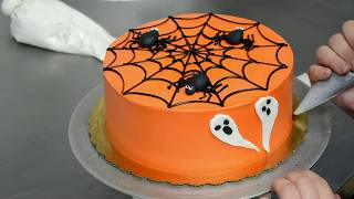 Simply And Easy Halloween Cake Decorating Tutorial