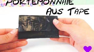 Portemonnaie selber machen / Geldbörse basteln aus einfachem Panzertape / Wallet DIY wallet tutorial