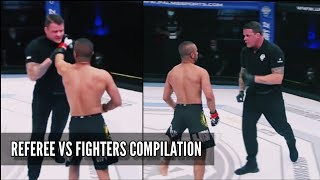 REFEREES VS FIGHTERS - MMA COMPILATION / REFEREE CHOKES FIGHTER [HD]