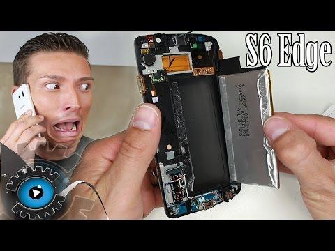 Samsung Galaxy S6 Edge Akku Wechseln unter 3 Minuten reparieren [Deutsch/German]