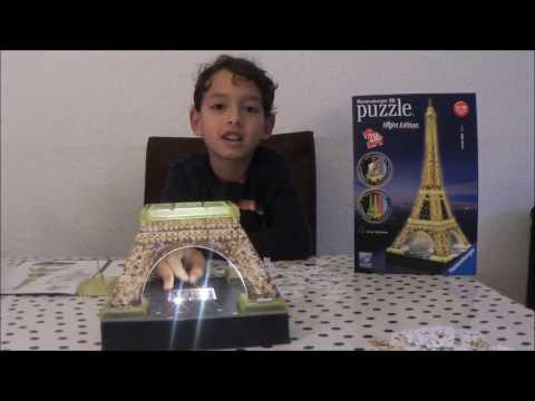 Djess en Ravensburger 3D puzzels Eiffel toren