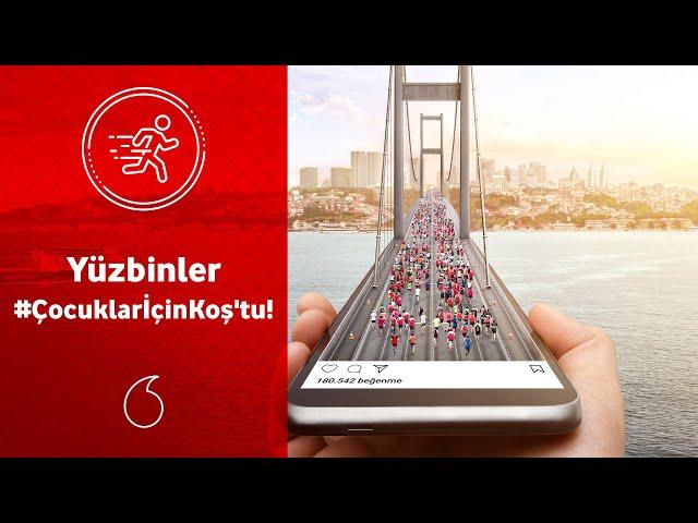 Vodafone 41. İstanbul Maratonu'nda yüzbinler #ÇocuklarİçinKoş'tu!