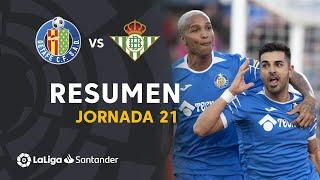 Resumen de Getafe CF vs Real Betis (1-0)