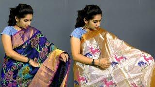 100% Uppada Hand Printed Designer Sarees With Price   SUBHADRA HANDLOOMS   SumanTv Sarees House