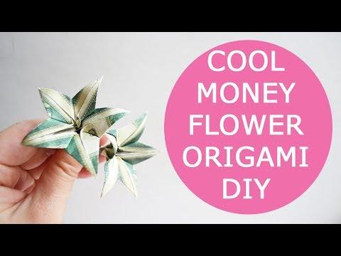 Cool money flower origami dollar tutorial diy folded no glue mightylinksfo