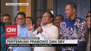 Prabowo Ungkapkan Hasil Pertemuannya dengan SBY