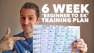 6 week 'beginner to 5k' training plan
