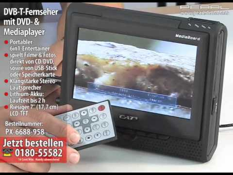 "CAT 7""-DVB-T-Fernseher mit DVD- & Mediaplayer über USB/SD ""MediaBoard"""