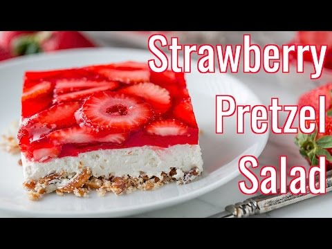 Dessert: Strawberry Pretzel Salad Recipe – Natasha's Kitchen