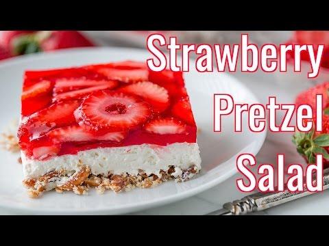 Dessert: Strawberry Pretzel Salad Recipe – Natasha's Kitchen