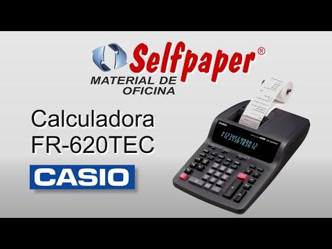 Calculadora impresora Casio FR-620TEC rollo papel