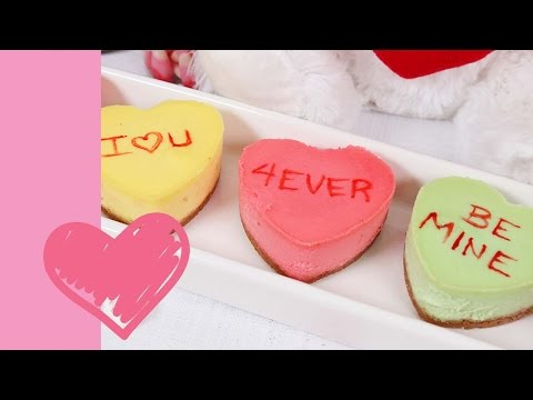 Heart Shaped Cheesecakes | Valentine's Day Edible Gifts
