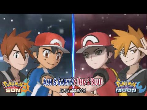 062ccb49d599 Pokemon Sun and Moon  Trainer Ash Kalos   Trainer Gary Vs Trainer Red    Trainer