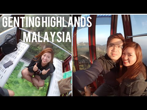 GENTING HIGHLANDS MALAYSIA | FLOOR GLASS CABLE CAR EXPERIENCE