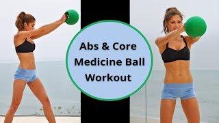 10-Min Beginner Abs & Core Medicine Ball Workout