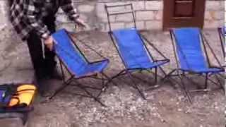 Складные стульчики своими руками для рыбалки