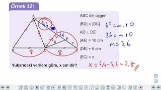 Eğitim Vadisi TYT Geometri 6.Föy Pisagor Teoremi Öklid Bağıntıları Konu Anlatım Videoları