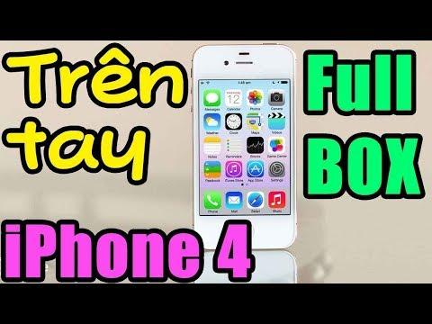 Trên tay điện thoại iPhone 4 FULL BOX hàng hiếm