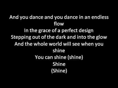 Barbie movie song: Shine lyrics on screen
