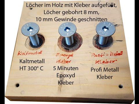 2K Klebstoffe, Kaltmetall, Epoxydharz Kleber, Profi Metall Kleber – Flüssigmetall, Gewinde