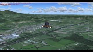 preview picture of video 'Vol démo P3D + Proxy Tile en France (Ariège)'