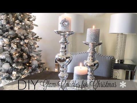 DIY Glamorous Candles – Christmas Decor 2016