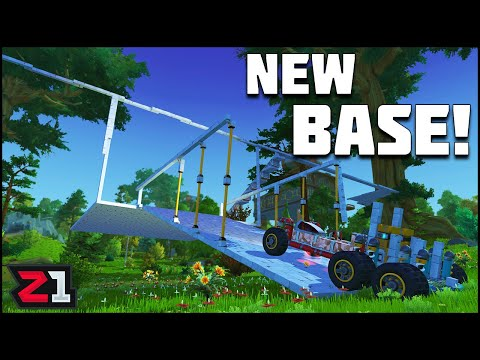 Starting the Tree House BASE ! Scrap Mechanic Survival Ep 23   Z1 Gaming