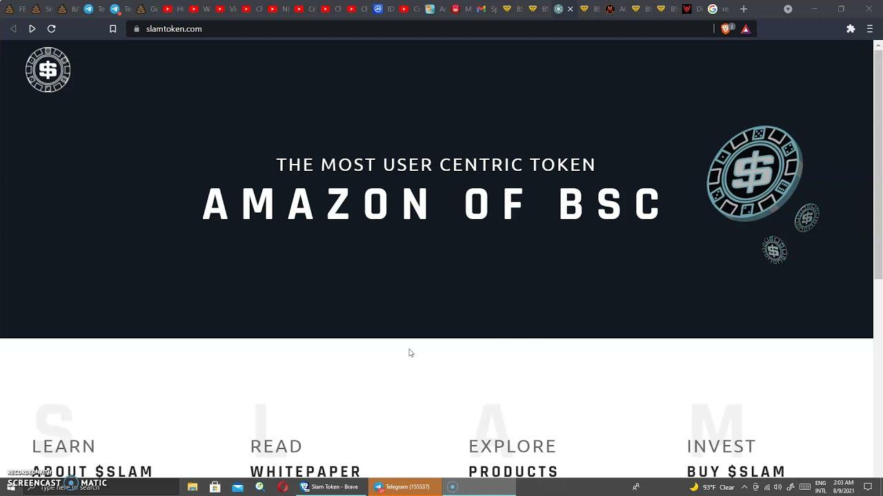 SLAM TOKEN|NEW 100X BSC Crypto|financing thumbnail