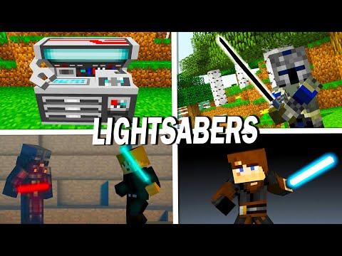 Advanced Lightsabers (Minecraft Star Wars Mod Showcase 1.7.10)