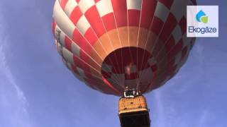 Eko gāze- Gaisa balonu festivālā Rīgas vīzijas 2013 atbalstītājs