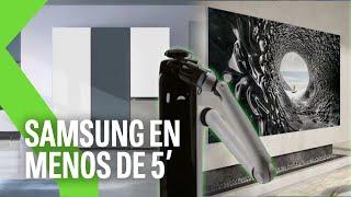 """ROBOTS que te TRAEN un vaso de agua, TV de 110"""" y más: SAMSUNG CES 2021 en menos de 5 minutos"""