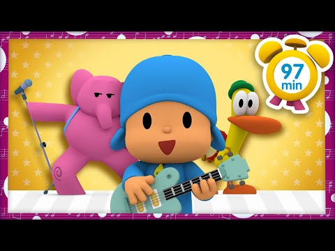 Download 🎷🎸🥁 POCOYO in ENGLISH - Pocoyo Rock Star [97 minutes] | Full Episodes | VIDEOS and CARTOONS for KIDS Mp4 HD Video and MP3