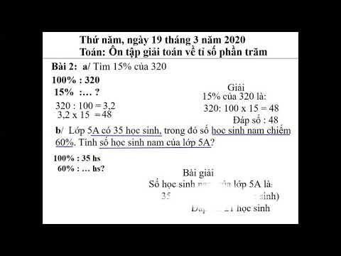 Ôn tập giải toán về tỉ số phần trăm - GV: Ngô Thanh Hải - Trường TH Bách Thuận