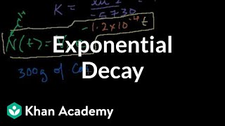 Introduction To Exponential Decay | Nuclear Chemistry | Chemistry | Khan Academy