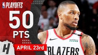 Damian Lillard Full Game 5 Highlights vs Thunder 2019 NBA Playoffs - 50 Pts, GAME-WINNER!