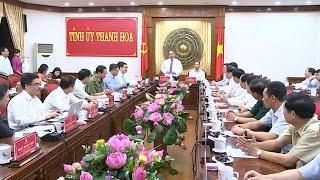 Thủ tướng Nguyễn Xuân Phúc làm việc với lãnh đạo Tỉnh ủy Thanh Hóa