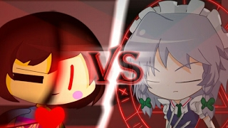 Frisk(Chara) Vs Sakuya Izayoi - (Undertale Vs Touhou) Animation