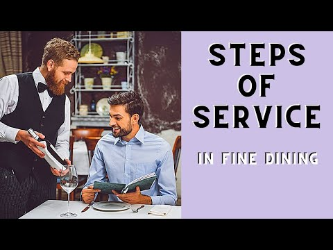 Steps of Service: Fine Dining F&B Waiter training. Food and ...